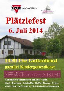 Einladung zum CVJM-Plätzlefest