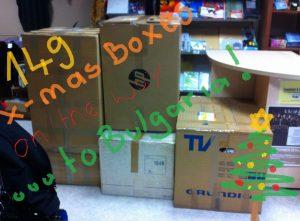 149 X-mas-Boxen auf dem Weg nach Bulgarien!