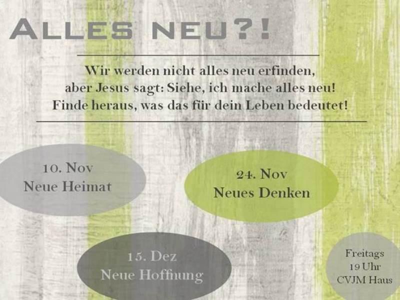 """Herzliche Einladung zum """"neuen"""" Freitag Abend im CVJM Linkenheim"""
